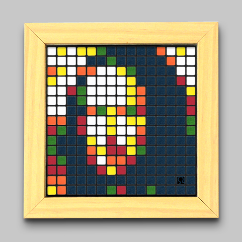 Rubik's Cube Mario Pop Art Wall Hanging. Previously blogged by Gary Fixler ...